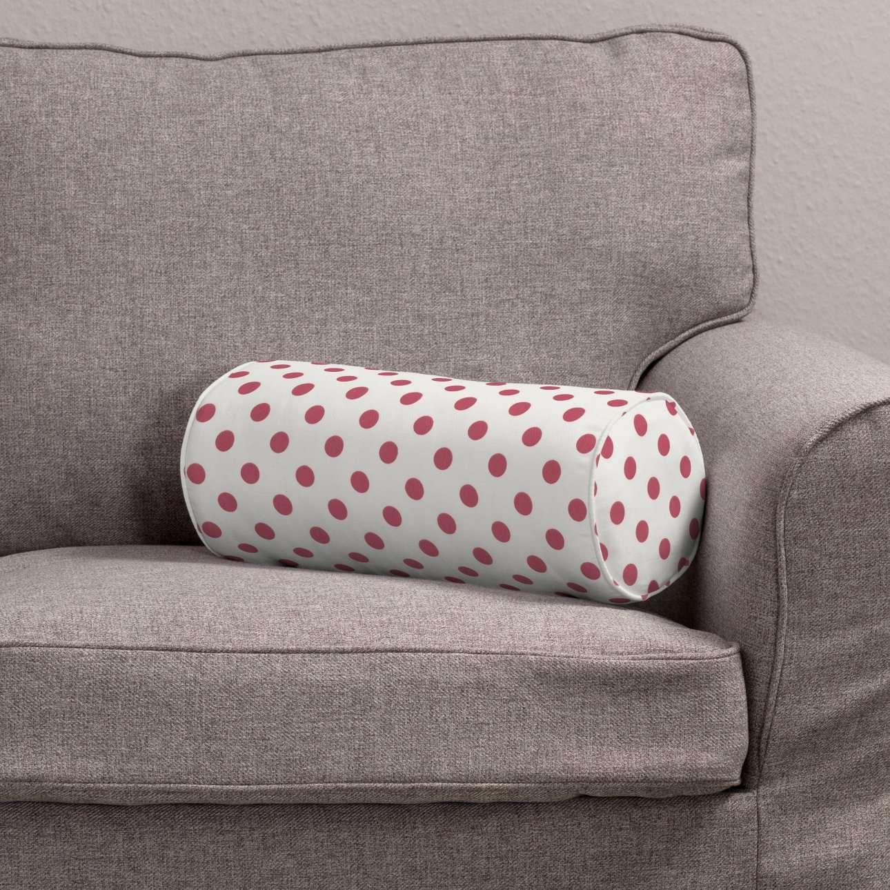 Poduszka wałek prosty Ø16x40cm w kolekcji Ashley, tkanina: 137-70