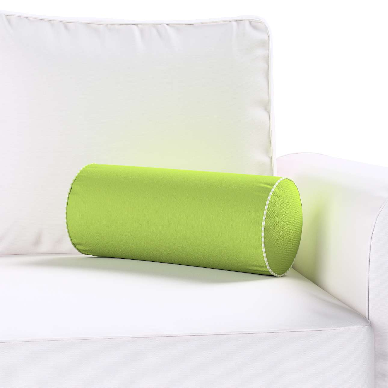 Bolster cushion  Ø 16 x 40 cm (6 x 16 inch) in collection Quadro, fabric: 136-37