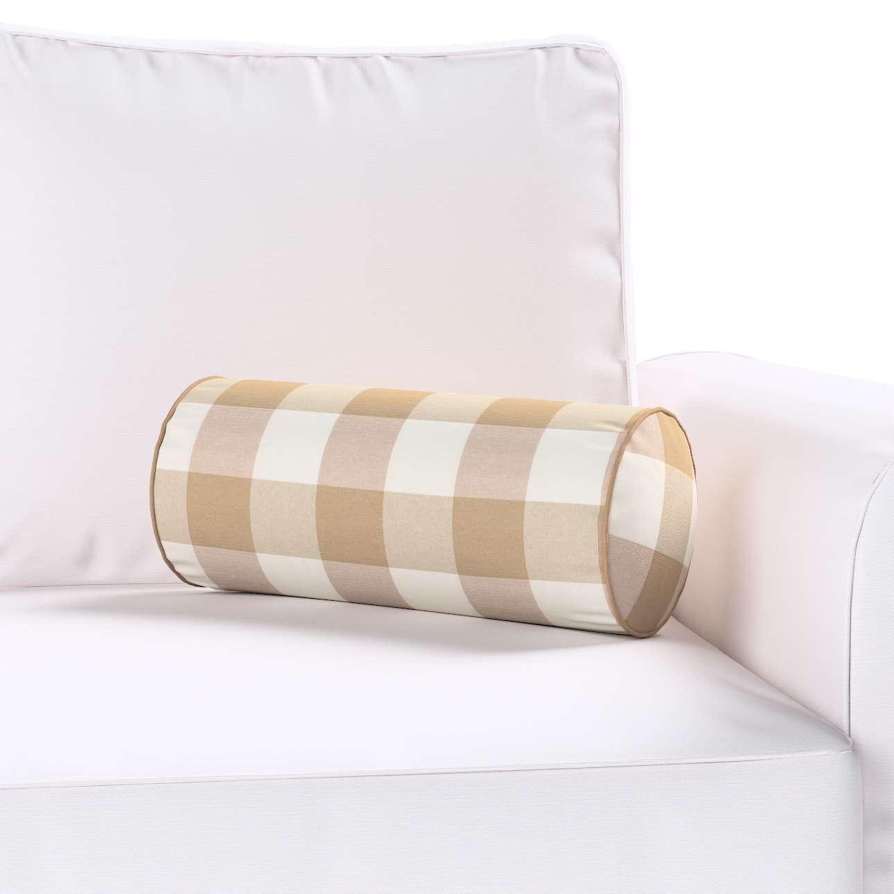 Poduszka wałek prosty Ø 16 x 40 cm w kolekcji Quadro, tkanina: 136-08
