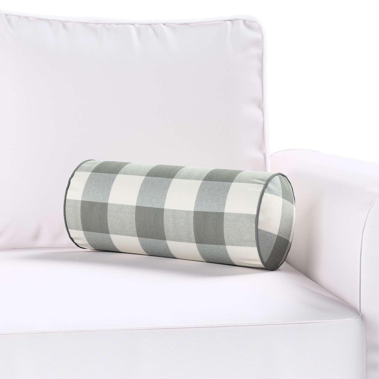 Poduszka wałek prosty Ø 16 x 40 cm w kolekcji Quadro, tkanina: 136-13