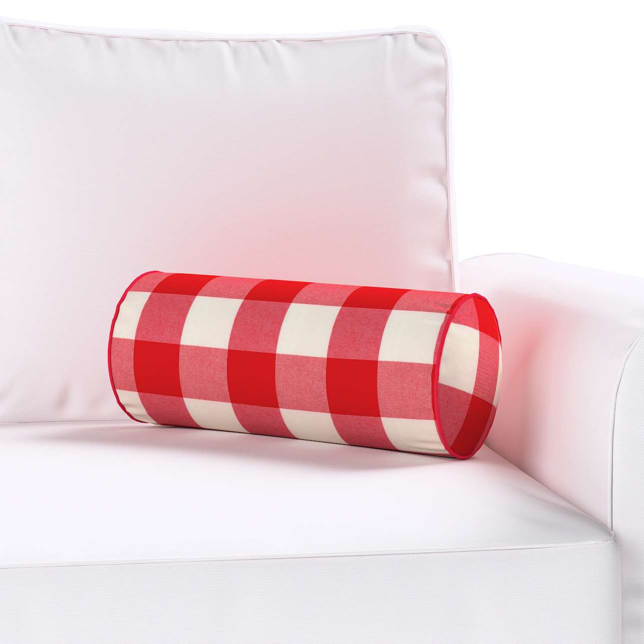 Ritinio formos  pagalvėlės užvalkalas Ø 16 x 40 cm (6 x 16 inch) kolekcijoje Quadro, audinys: 136-18