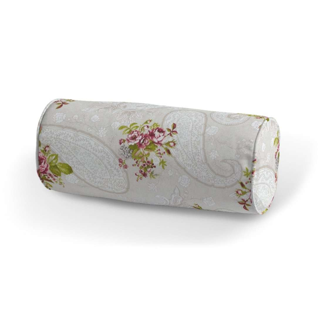 Poduszka wałek prosty Ø 16 x 40 cm w kolekcji Flowers, tkanina: 311-15