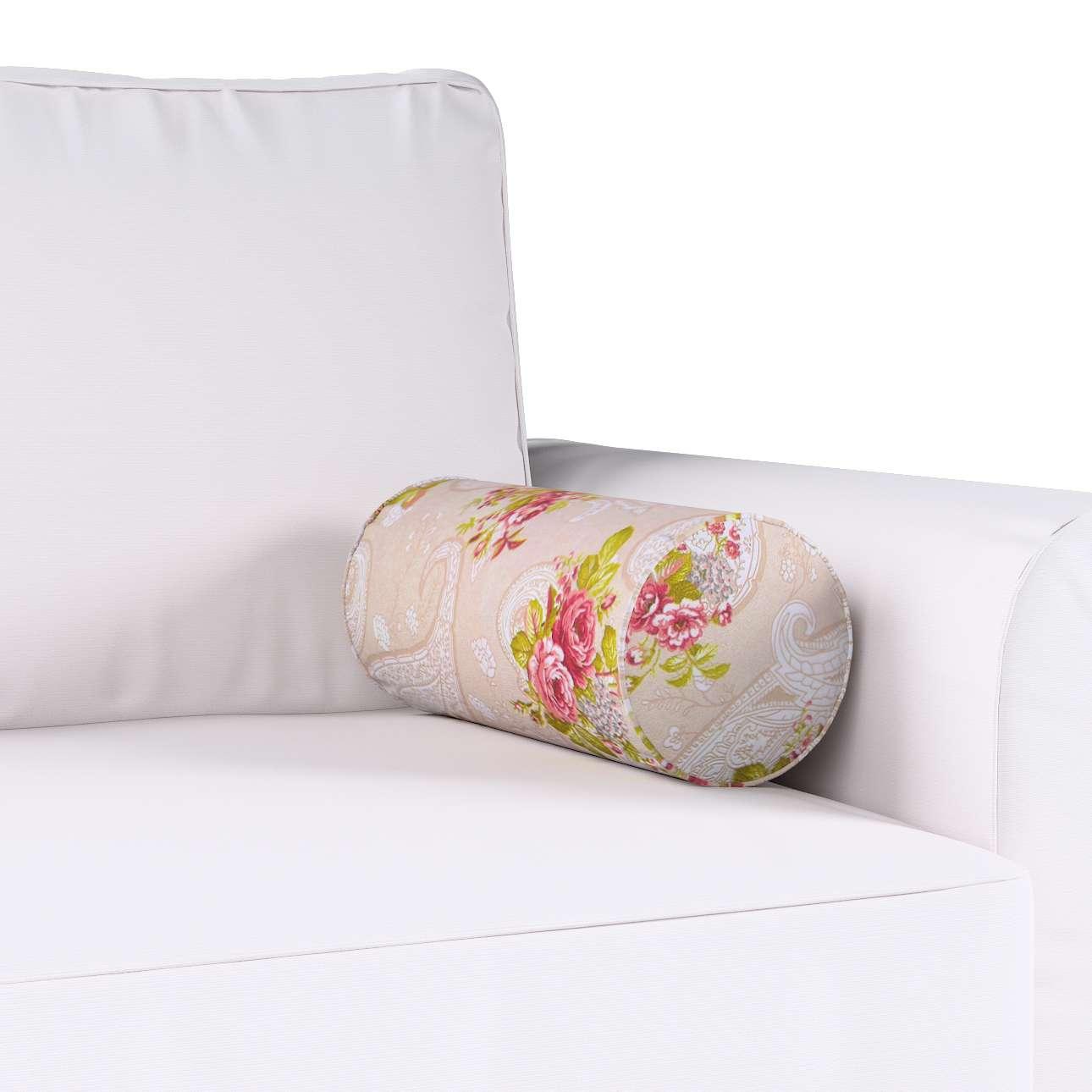 Poduszka wałek prosty Ø16x40cm w kolekcji Flowers, tkanina: 311-15