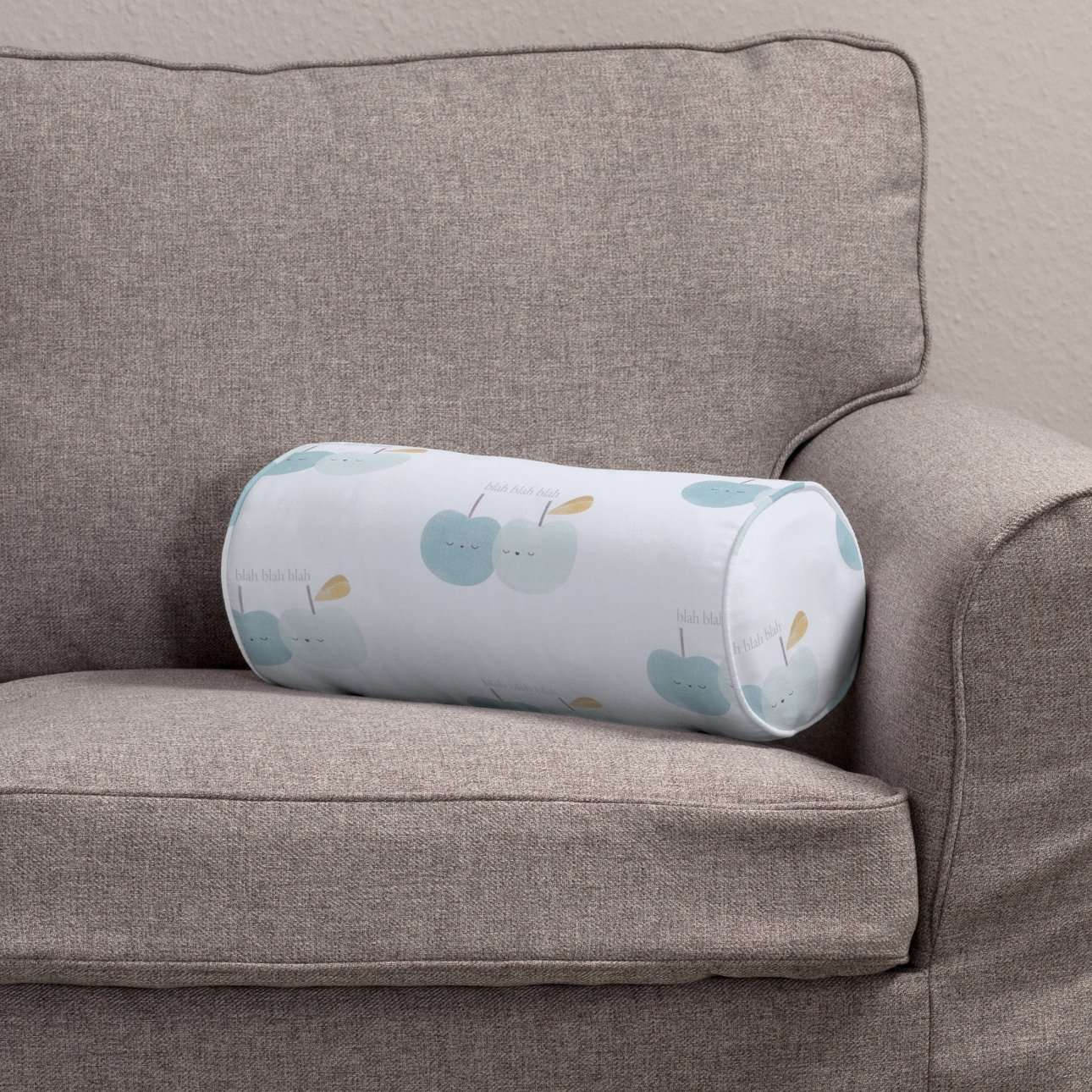 Poduszka wałek prosty Ø16x40cm w kolekcji Apanona do -30%, tkanina: 151-02