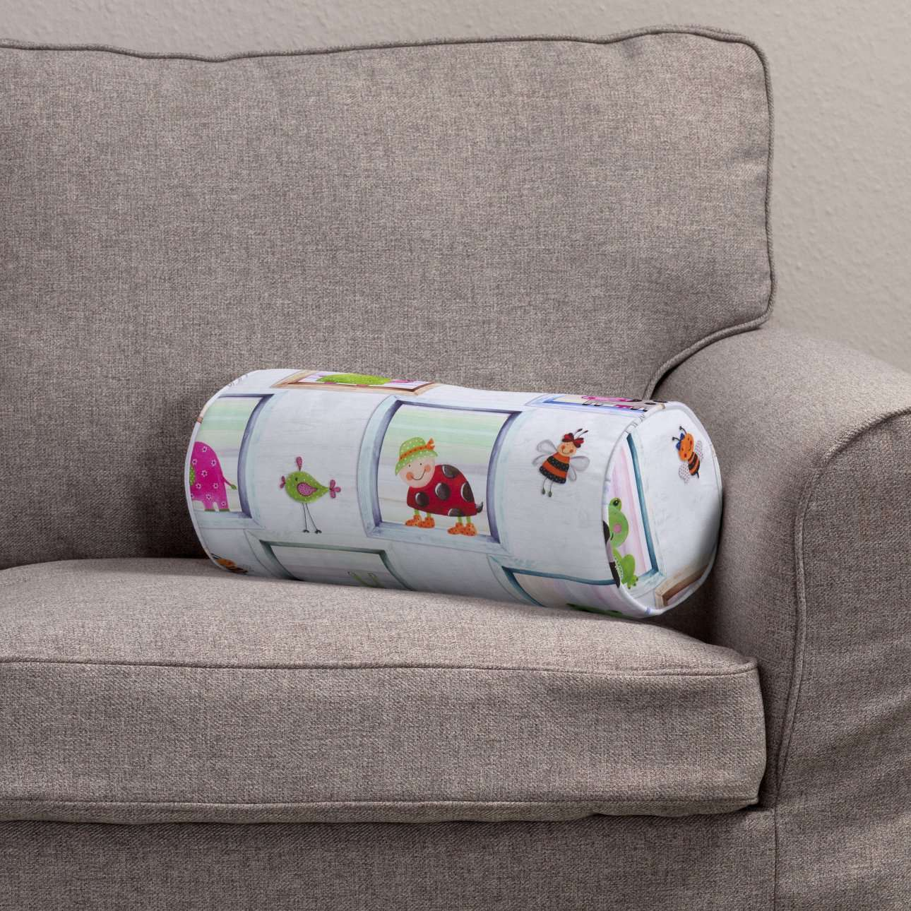 Poduszka wałek prosty Ø 16 x 40 cm w kolekcji Apanona, tkanina: 151-04