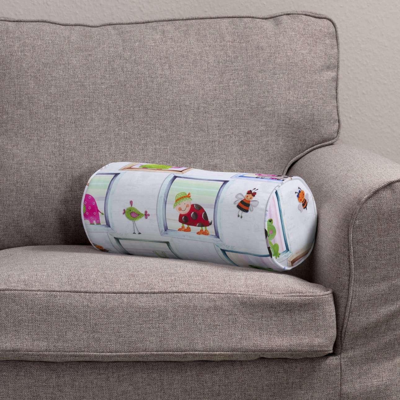 Ritinio formos  pagalvėlės užvalkalas Ø 16 x 40 cm (6 x 16 inch) kolekcijoje Apanona, audinys: 151-04