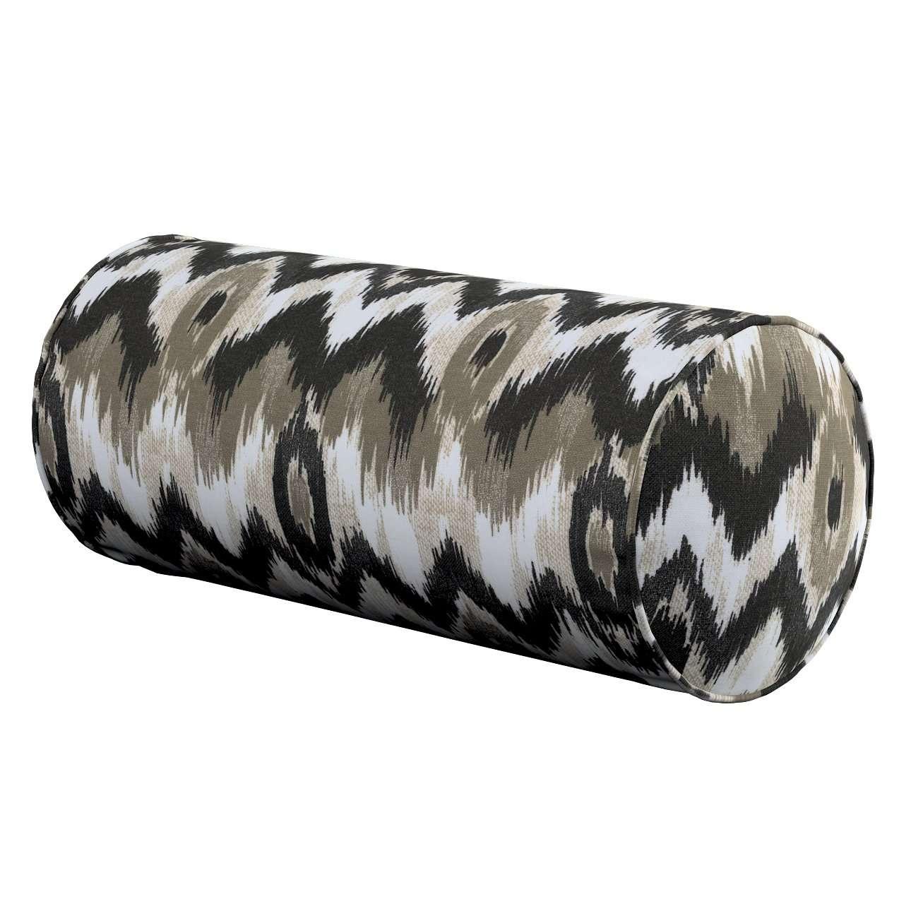 Einfache Nackenrolle, schwarz-beige, Ø 16 × 40 cm, Modern   Schlafzimmer > Kopfkissen > Nackenstützkissen & Nackenrollen   Dekoria