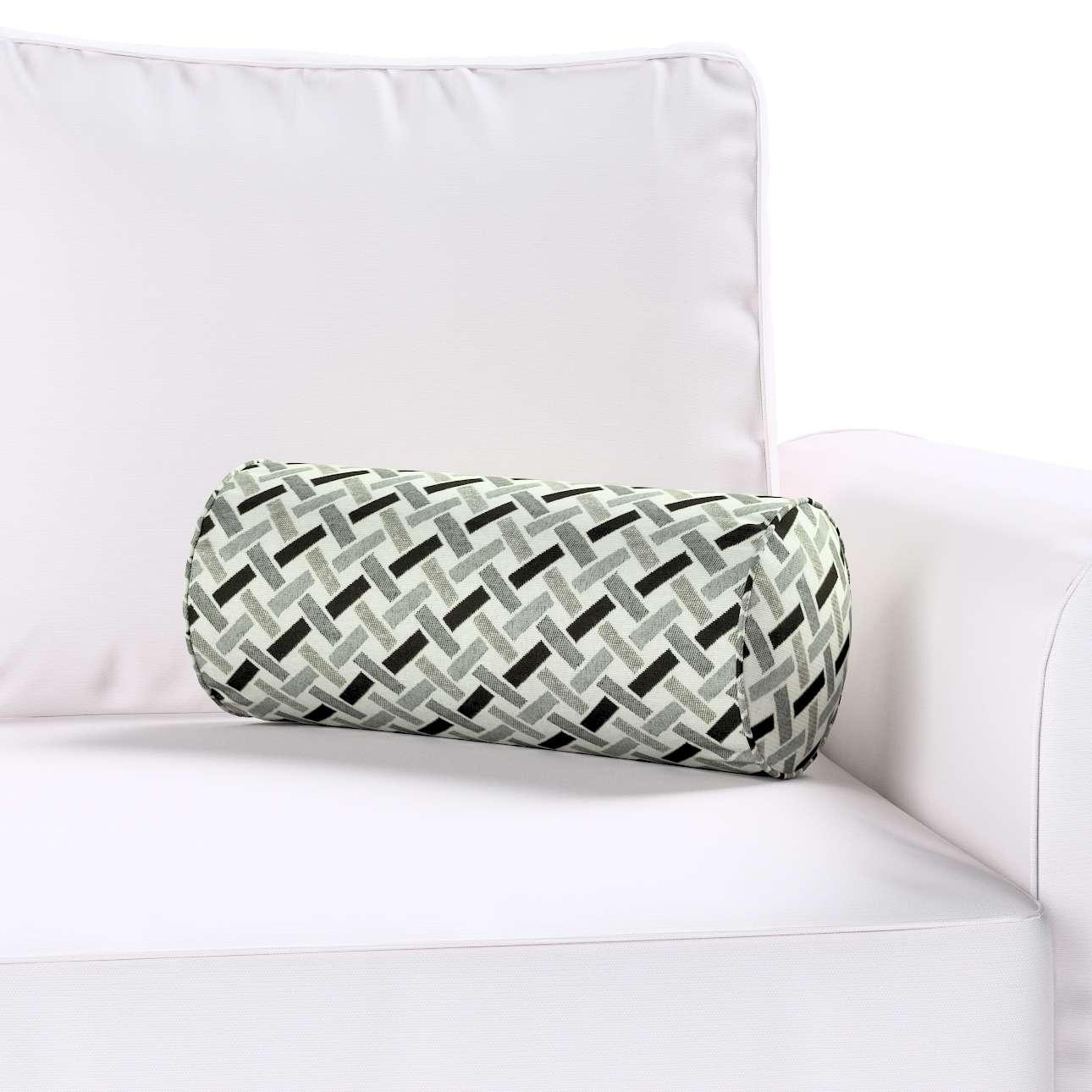 Poduszka wałek prosty w kolekcji Black & White, tkanina: 142-78