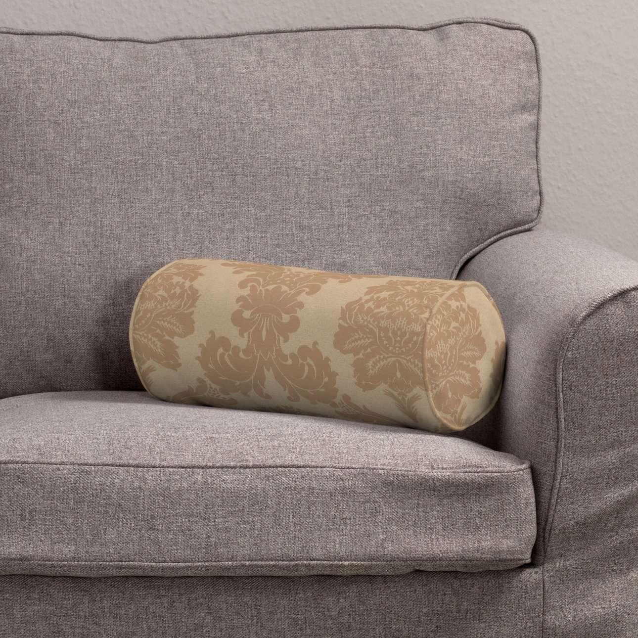 Poduszka wałek prosty Ø 16 x 40 cm w kolekcji Damasco, tkanina: 613-04