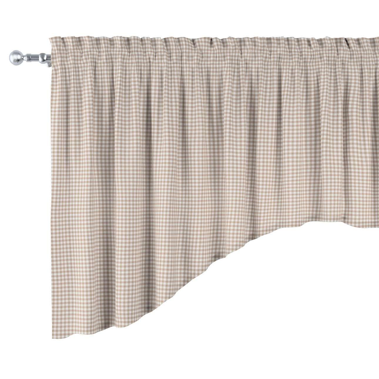 Lambrekin łuk w kolekcji Quadro, tkanina: 136-05