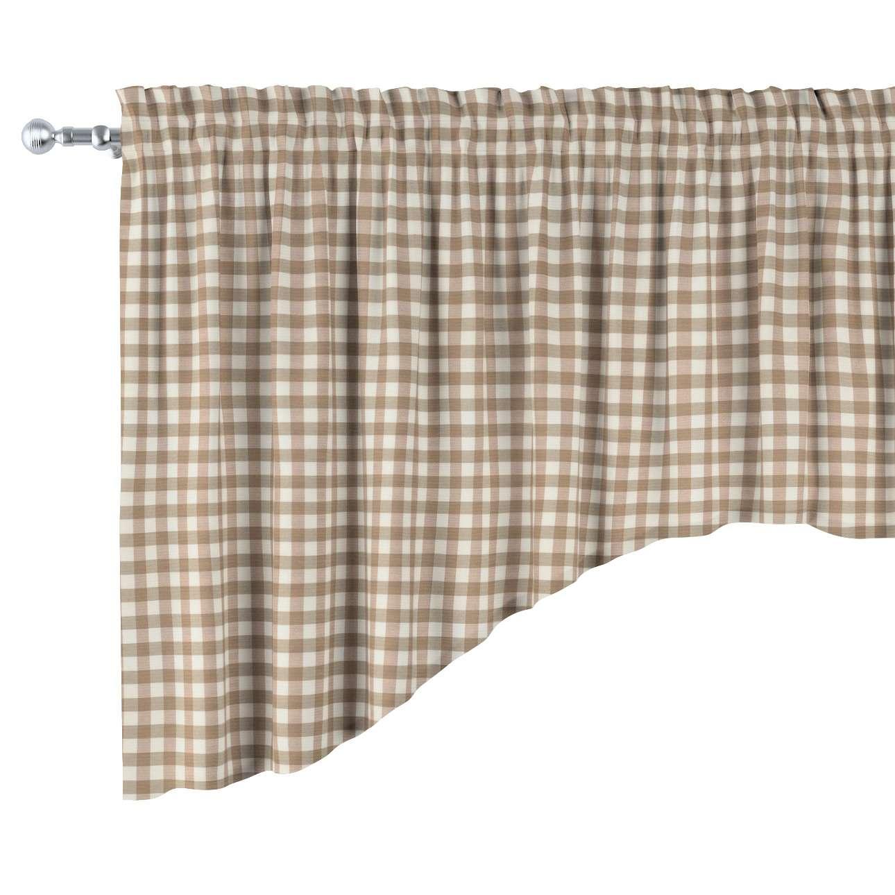 Lambrekin łuk w kolekcji Quadro, tkanina: 136-06