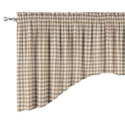 Lambrekin łuk 136-06 beżowo biała kratka (1,5x1,5cm) Kolekcja Quadro