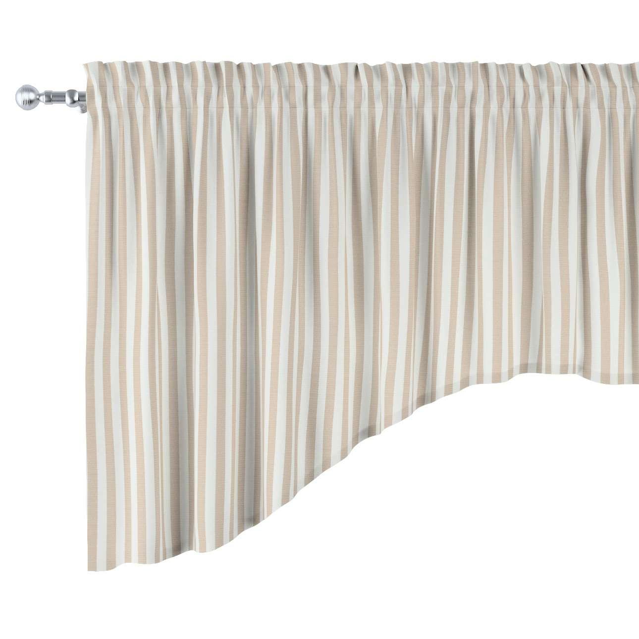 Lambrekin łuk w kolekcji Quadro, tkanina: 136-07