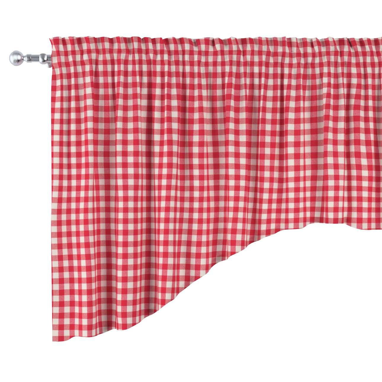 Lambrekin łuk w kolekcji Quadro, tkanina: 136-16