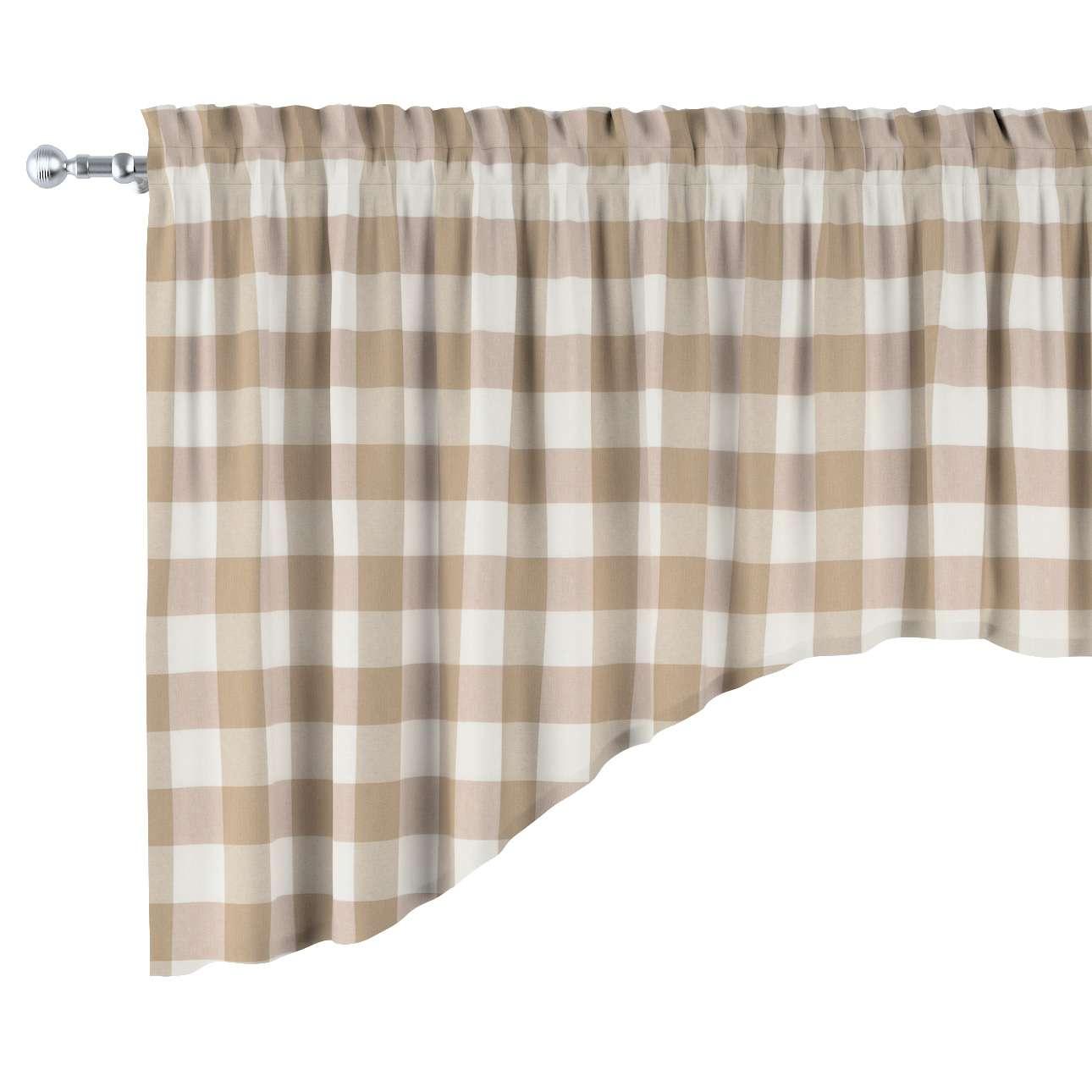 Lambrekin łuk w kolekcji Quadro, tkanina: 136-08