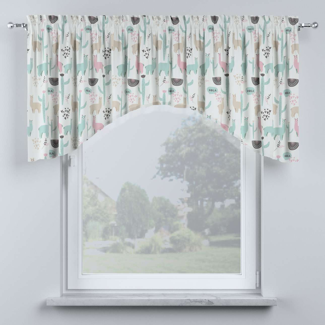 Bow lambrequin in collection Magic Collection, fabric: 500-01