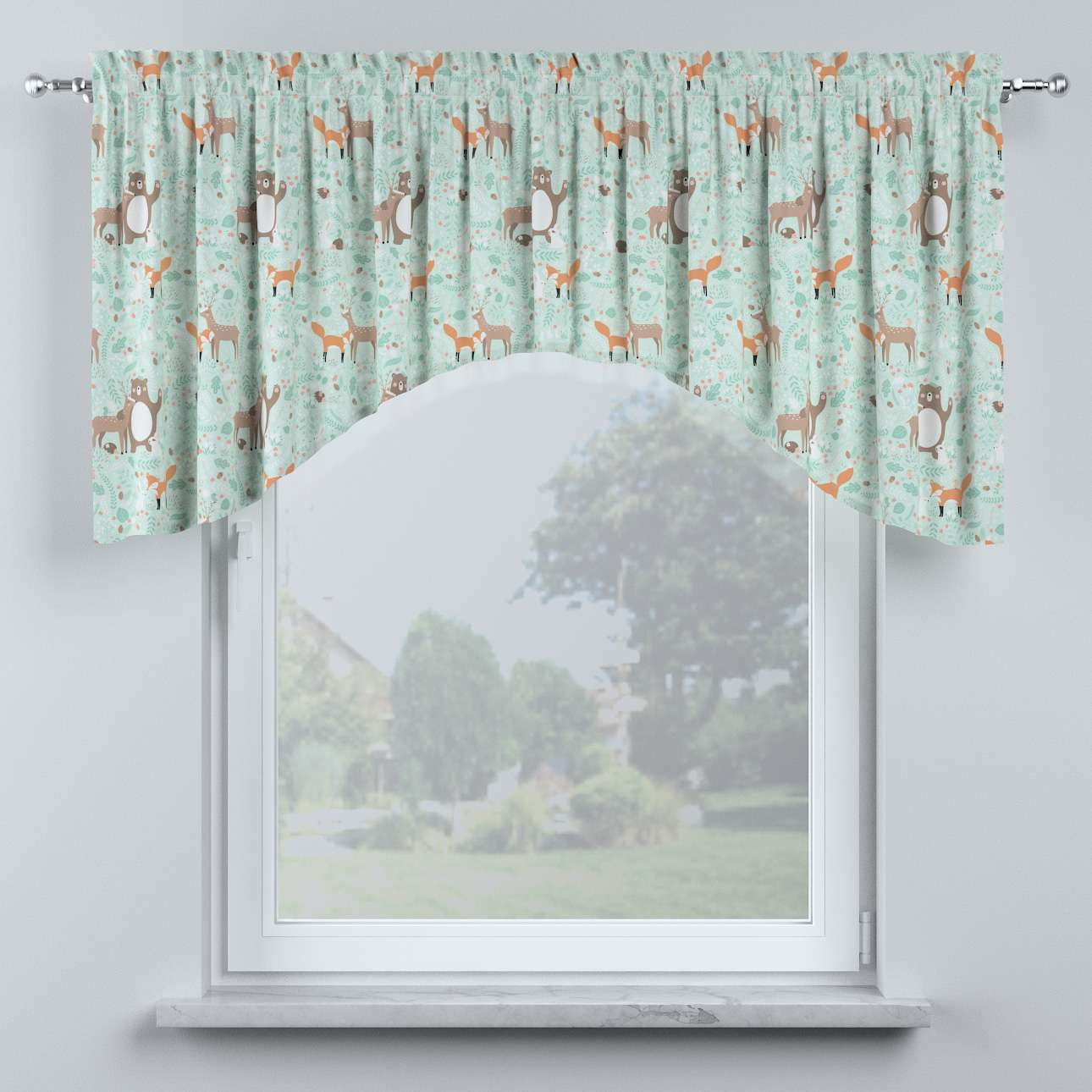 Bow lambrequin in collection Magic Collection, fabric: 500-15