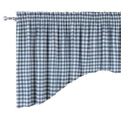 Buet gardinkappe med rynkebånd og løbegang