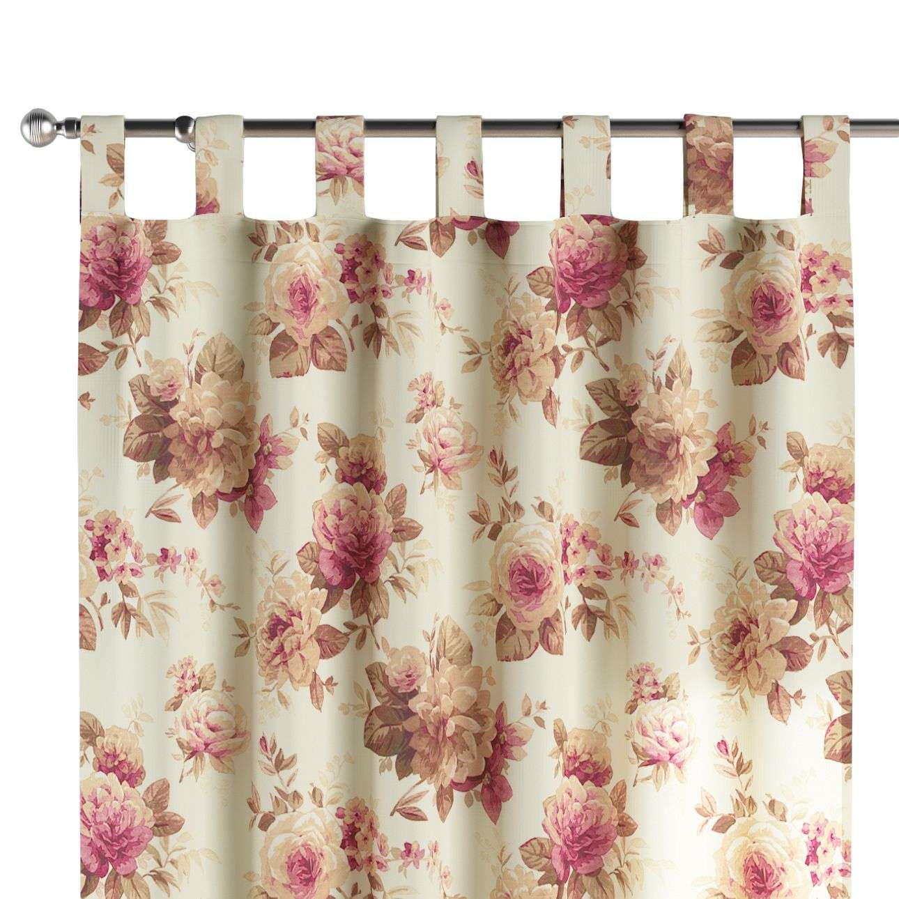 Tab top curtains in collection Mirella, fabric: 141-06