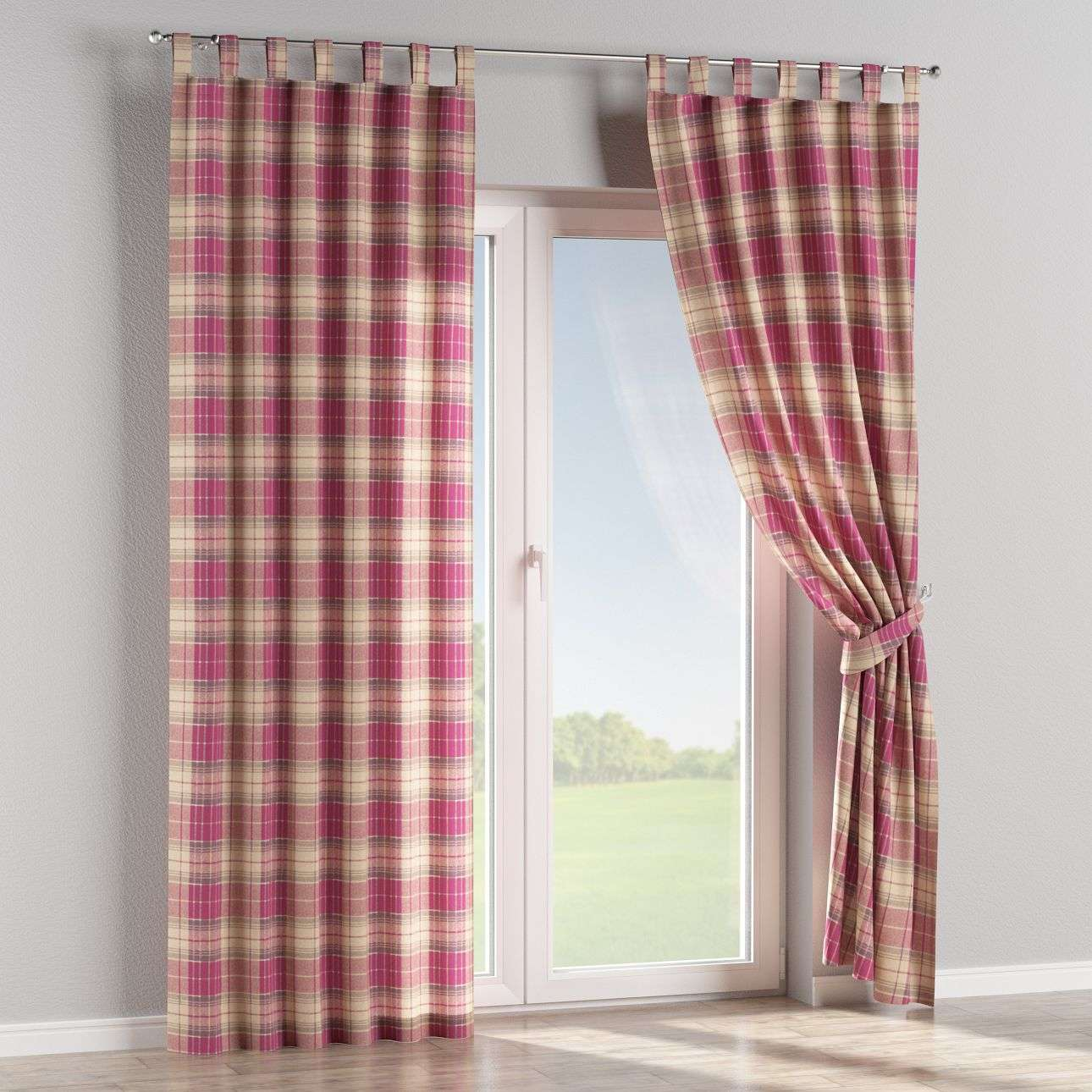 Tab top curtains in collection Mirella, fabric: 142-07