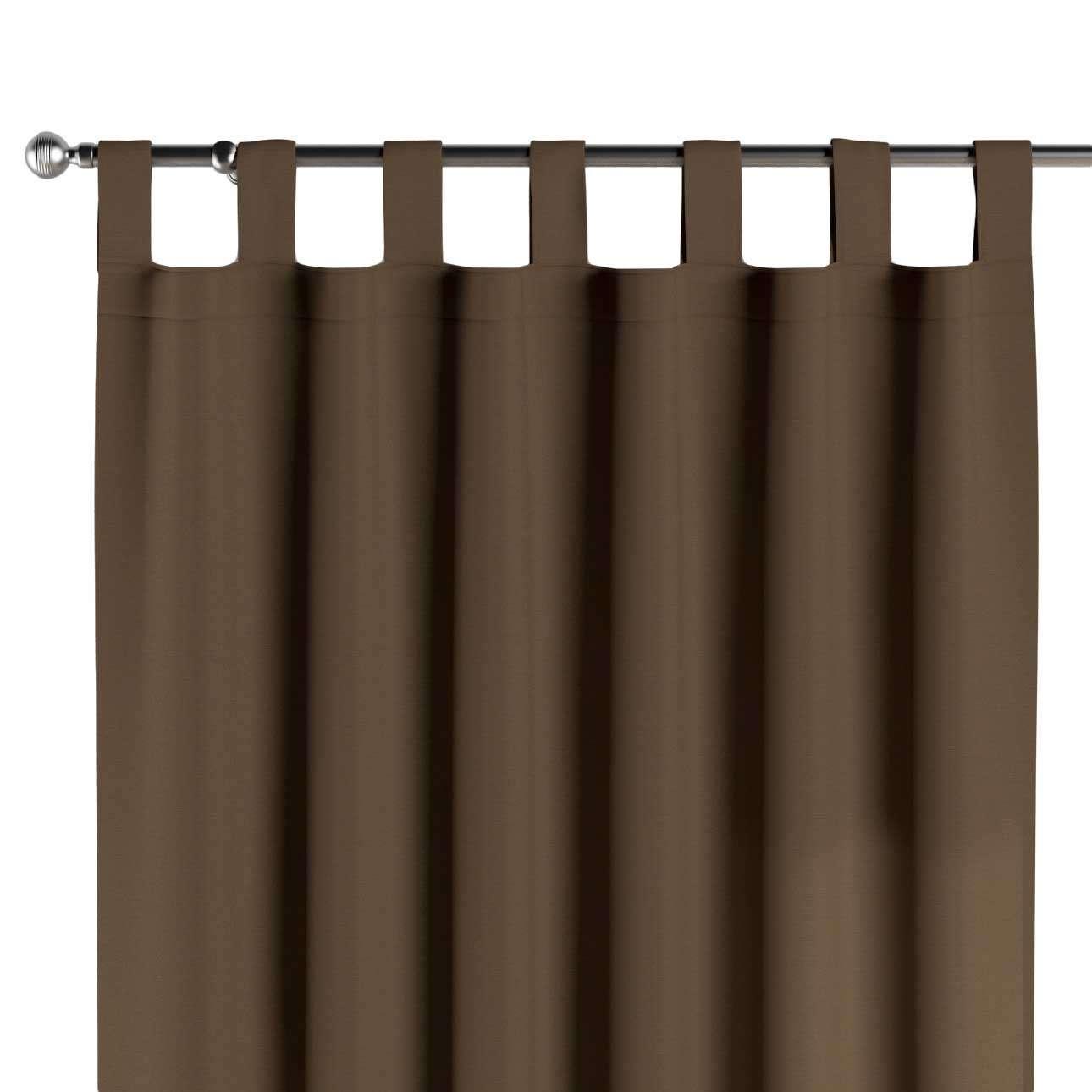 Schlaufenschal, mocca, 1 Stck. 130 × 260 cm, Cotton Panama | Heimtextilien > Gardinen und Vorhänge > Schlaufenschals | Dekoria