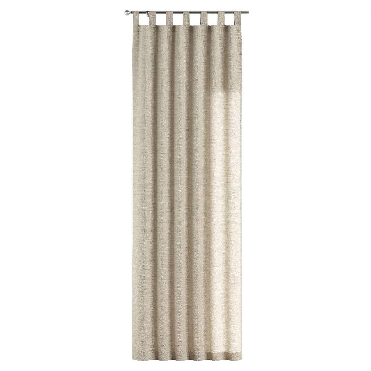 Gardin med hällor 1 längd 130 x 260 cm i kollektionen Linne, Tyg: 392-05