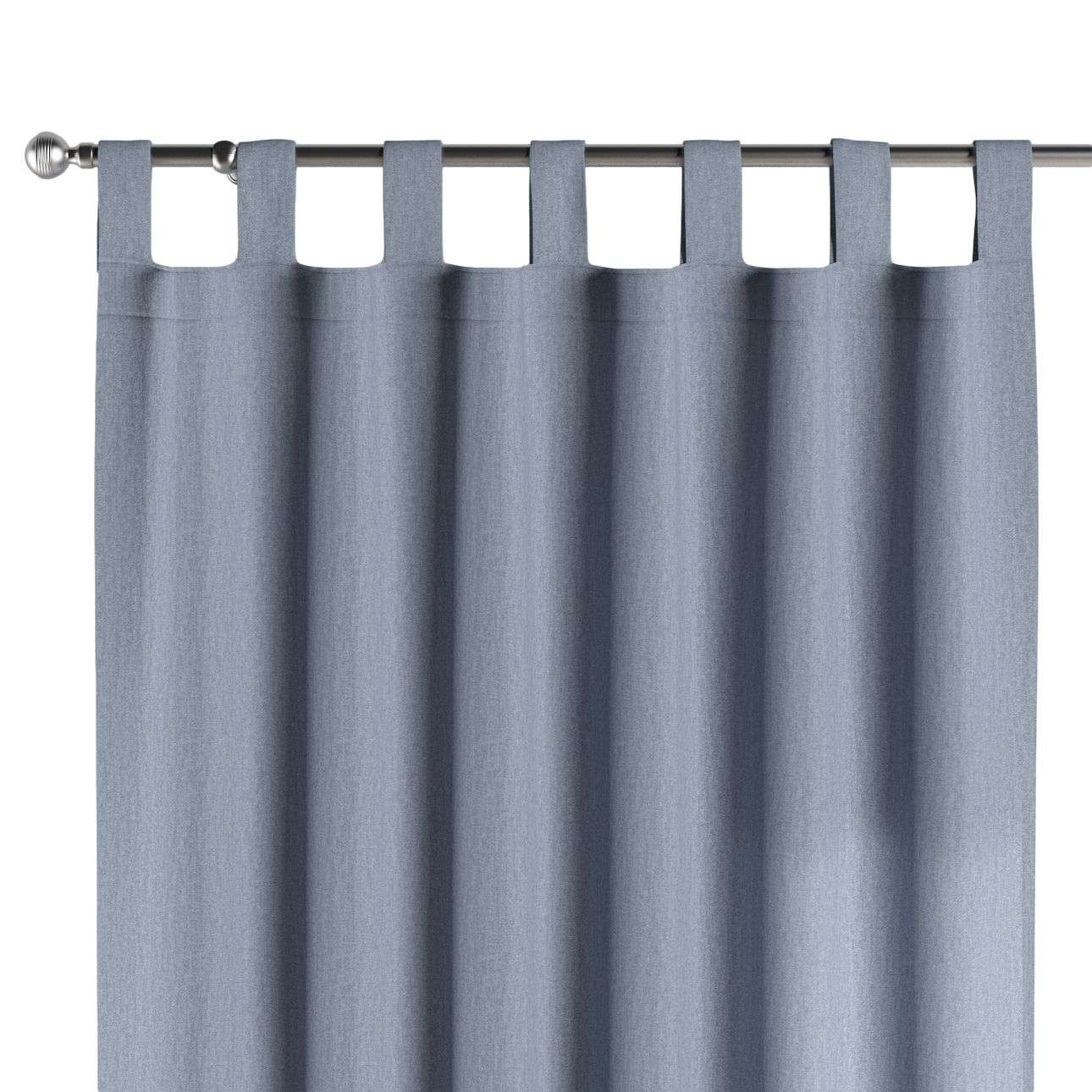 Gardin med hällor 1 längd 130 x 260 cm i kollektionen Chenille , Tyg: 702-13
