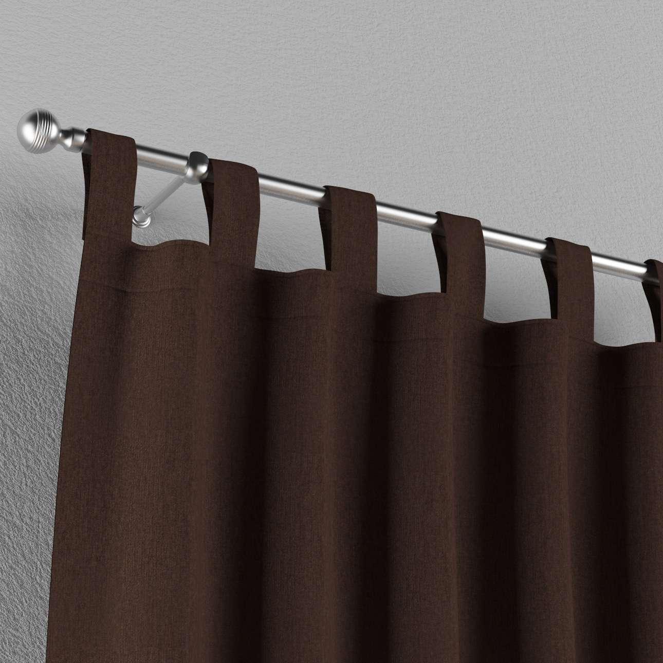 Gardin med stropper 130 x 260 cm fra kollektionen Chenille, Stof: 702-18