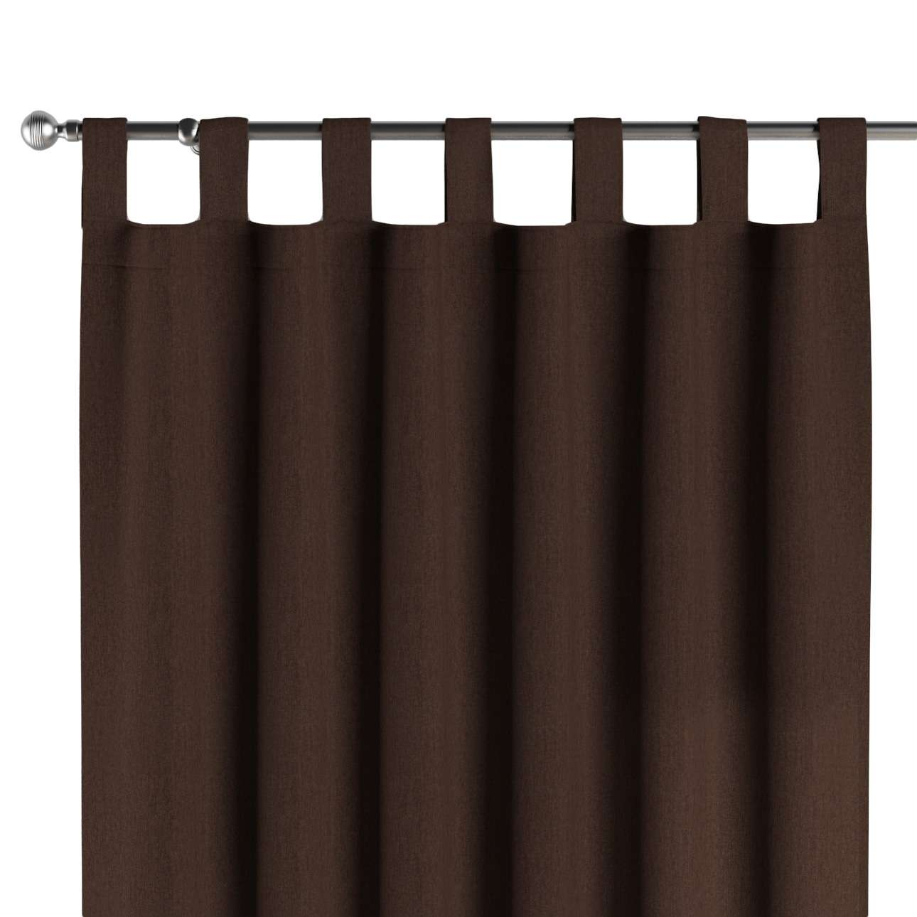 Gardin med hällor 1 längd 130 x 260 cm i kollektionen Chenille , Tyg: 702-18