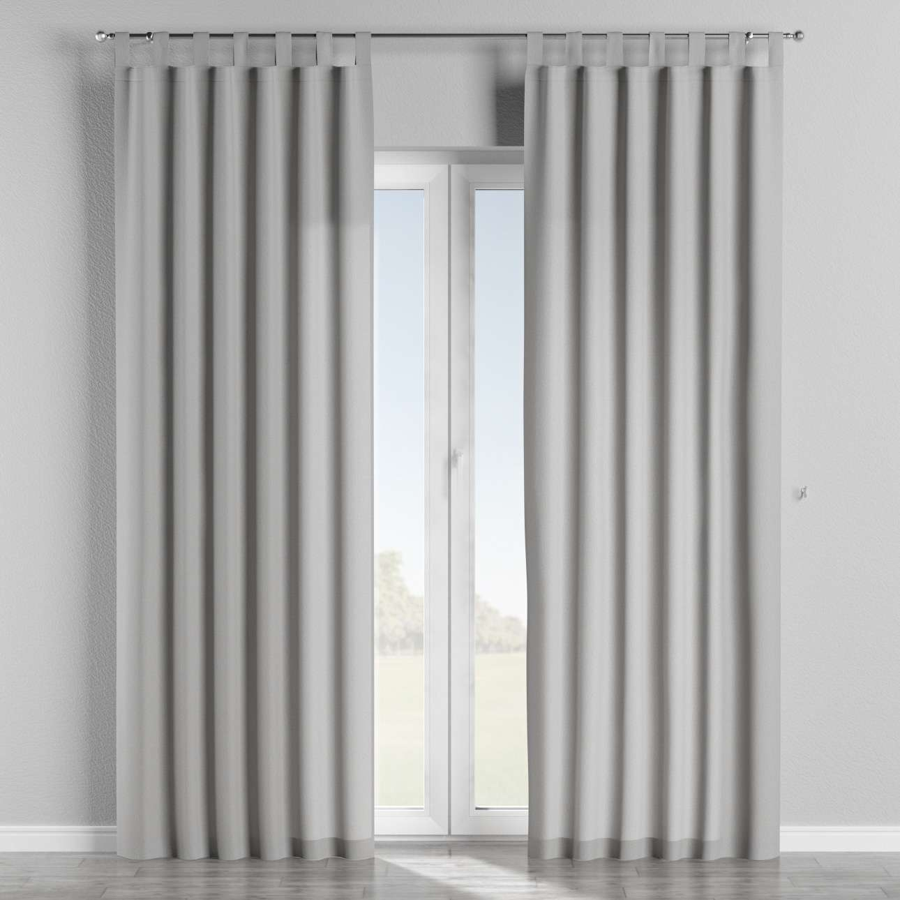 Gardin med stropper 130 x 260 cm fra kollektionen Chenille, Stof: 702-23