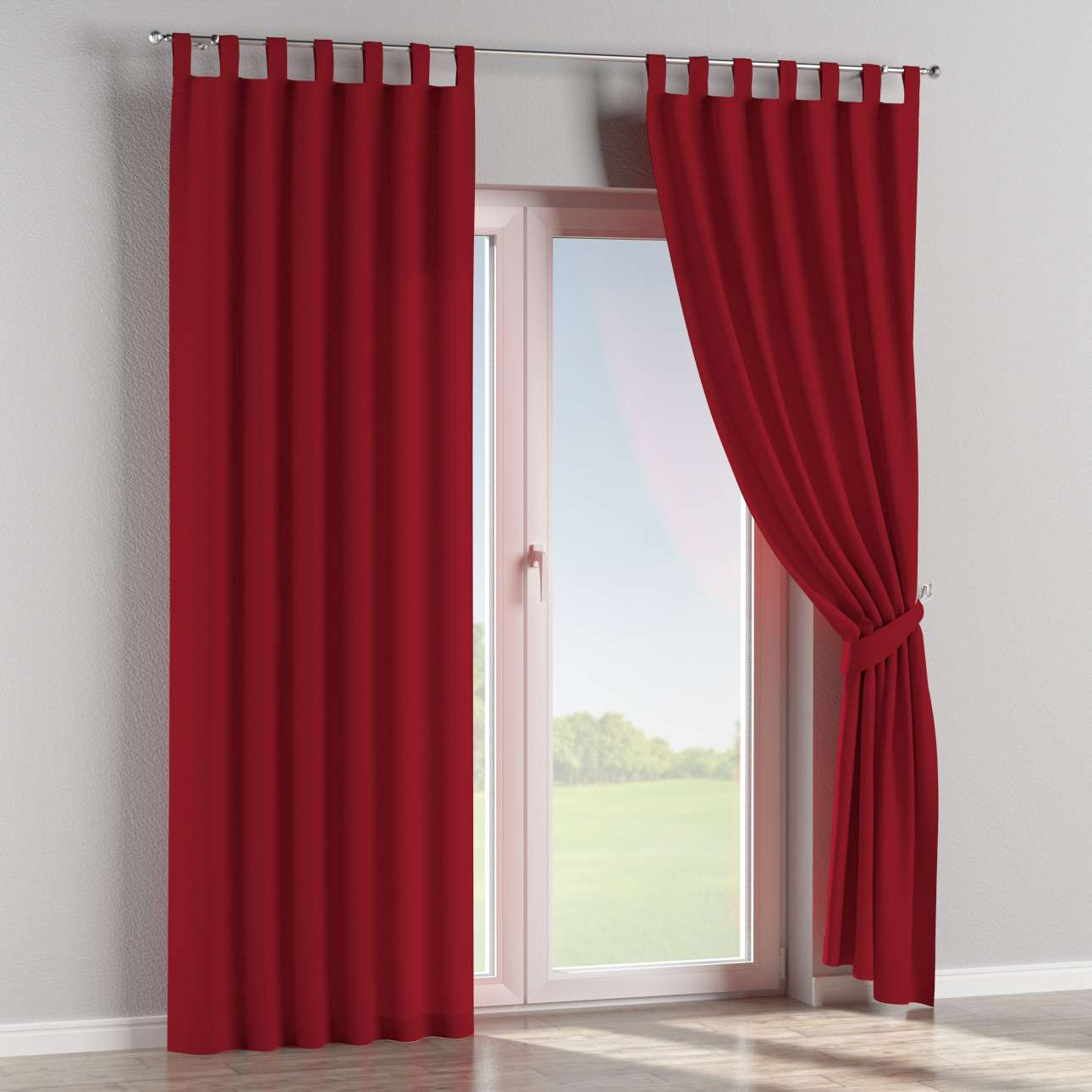 Tab top curtains in collection Chenille, fabric: 702-24