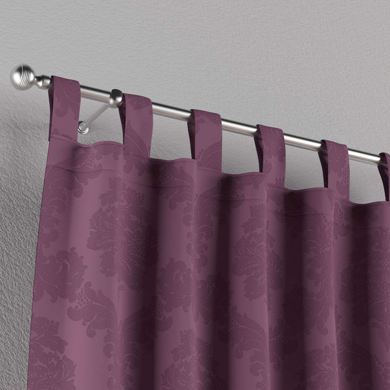 Tab top curtains 130 x 260 cm (51 x 102 inch) in collection Damasco, fabric: 613-75