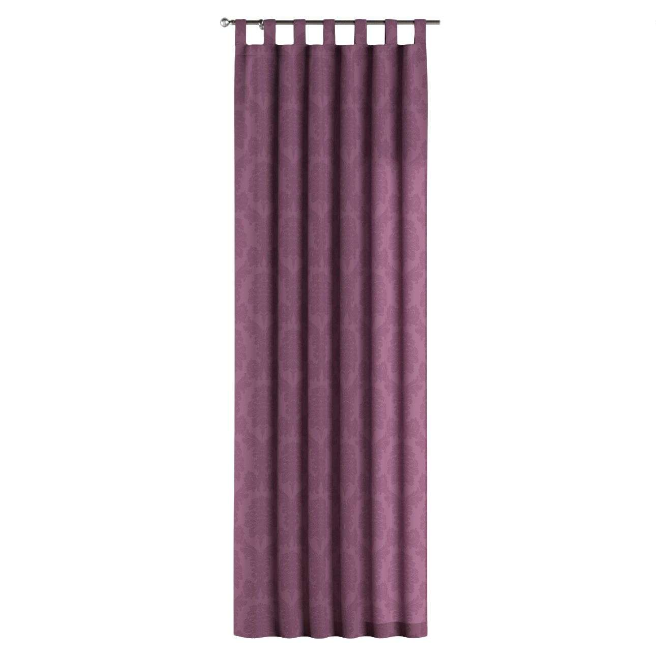 Gardin med hällor 1 längd 130 x 260 cm i kollektionen Damasco, Tyg: 613-75