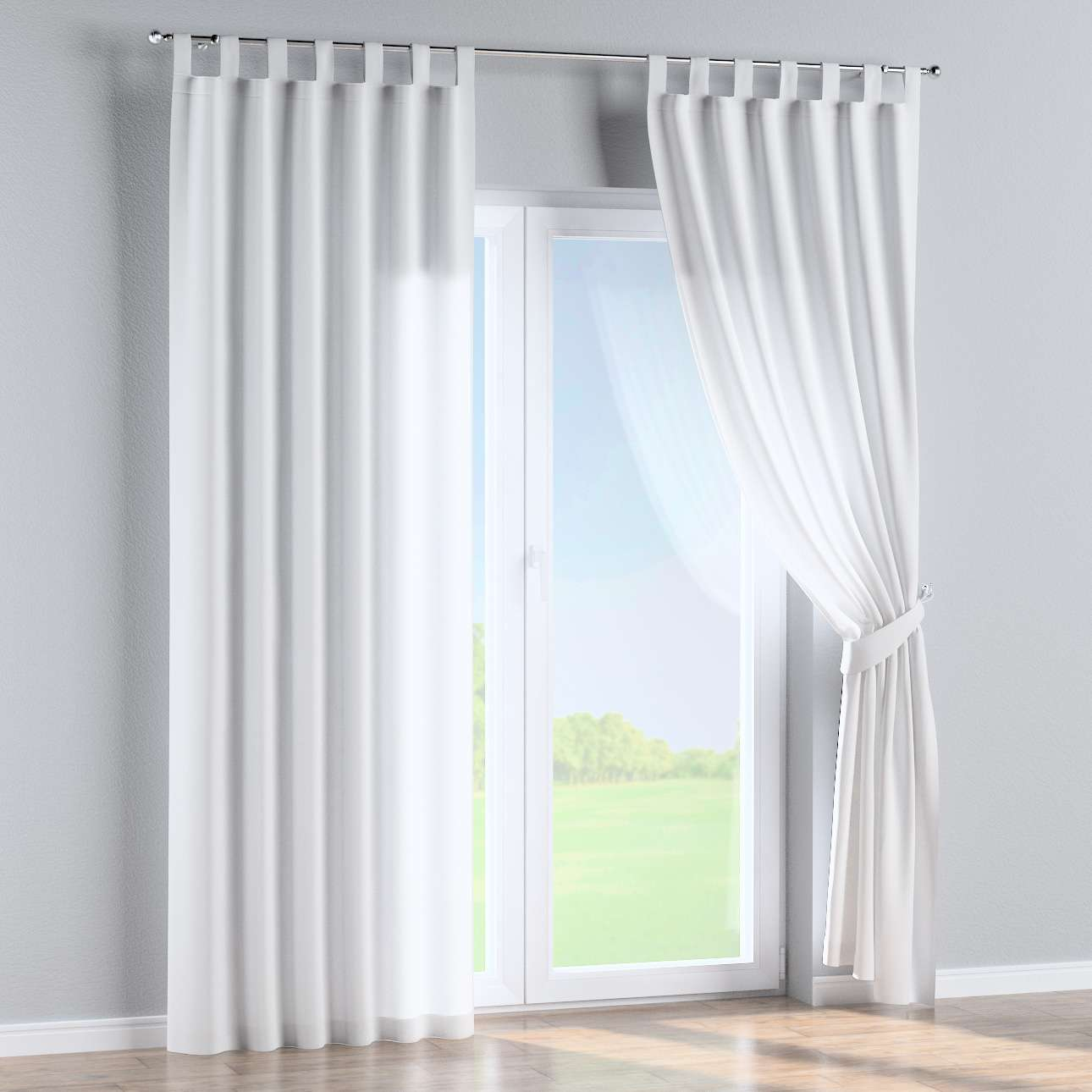 Tab top curtains 130 × 260 cm (51 × 102 inch) in collection Loneta , fabric: 133-02
