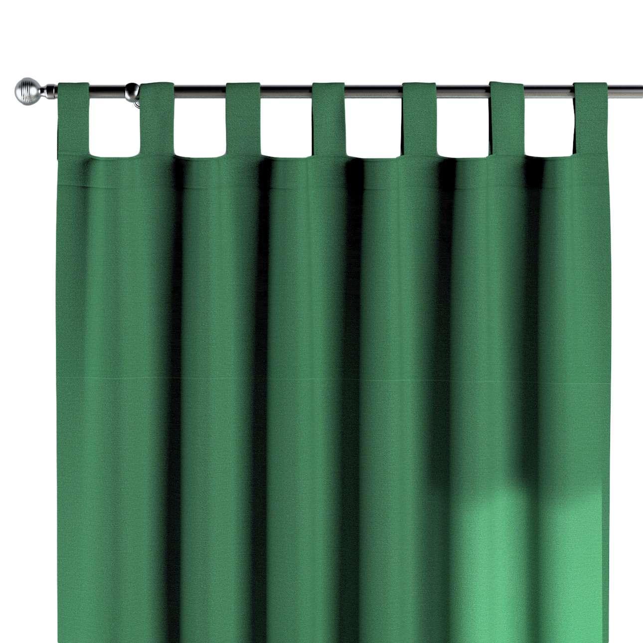 Grüne Schlaufengardine