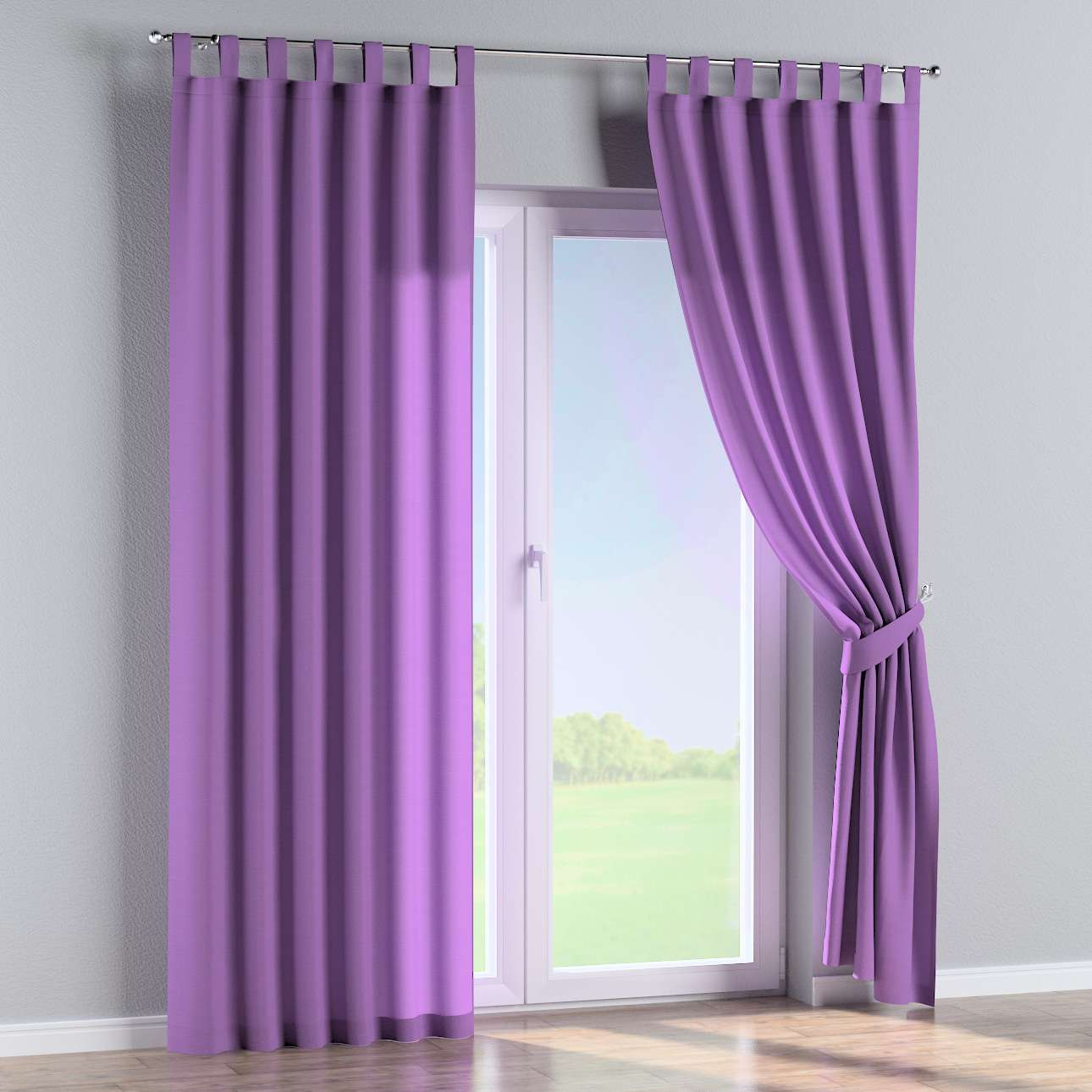Tab top curtains 130 x 260 cm (51 x 102 inch) in collection Loneta , fabric: 133-19
