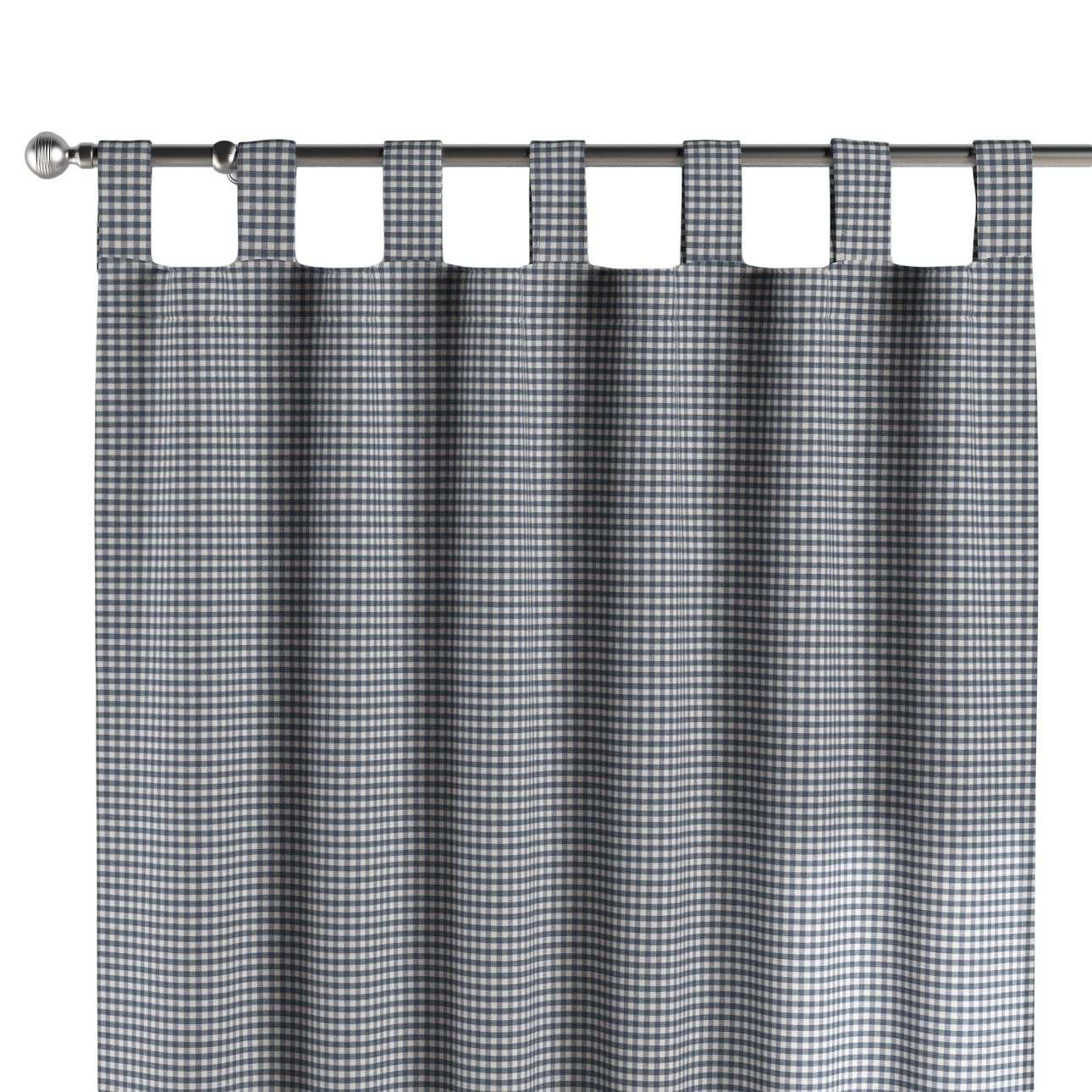 Tab top curtains in collection Quadro, fabric: 136-00