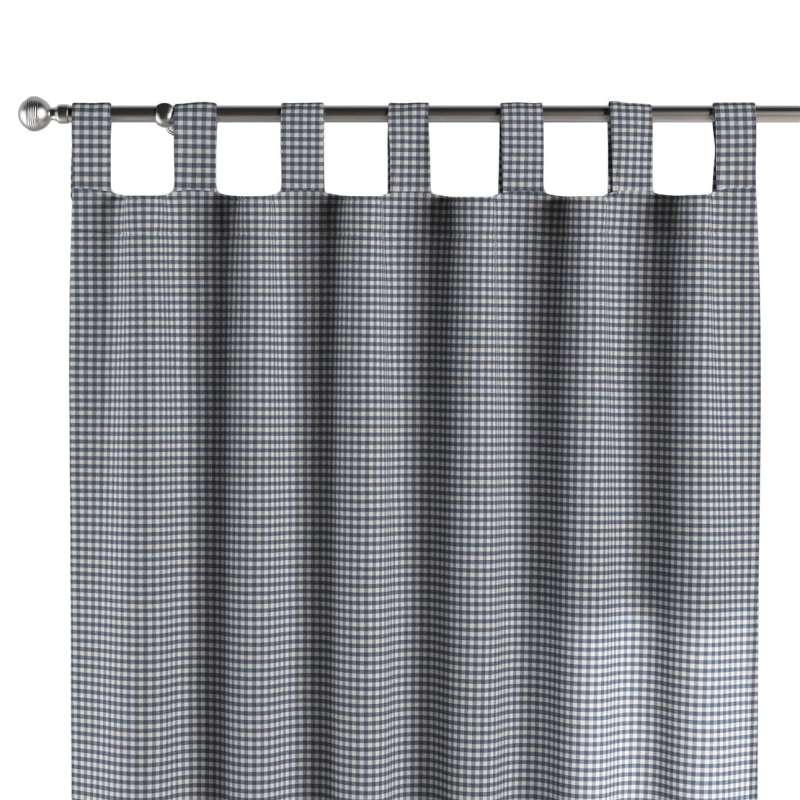 Zasłona na szelkach 1 szt. w kolekcji Quadro, tkanina: 136-00