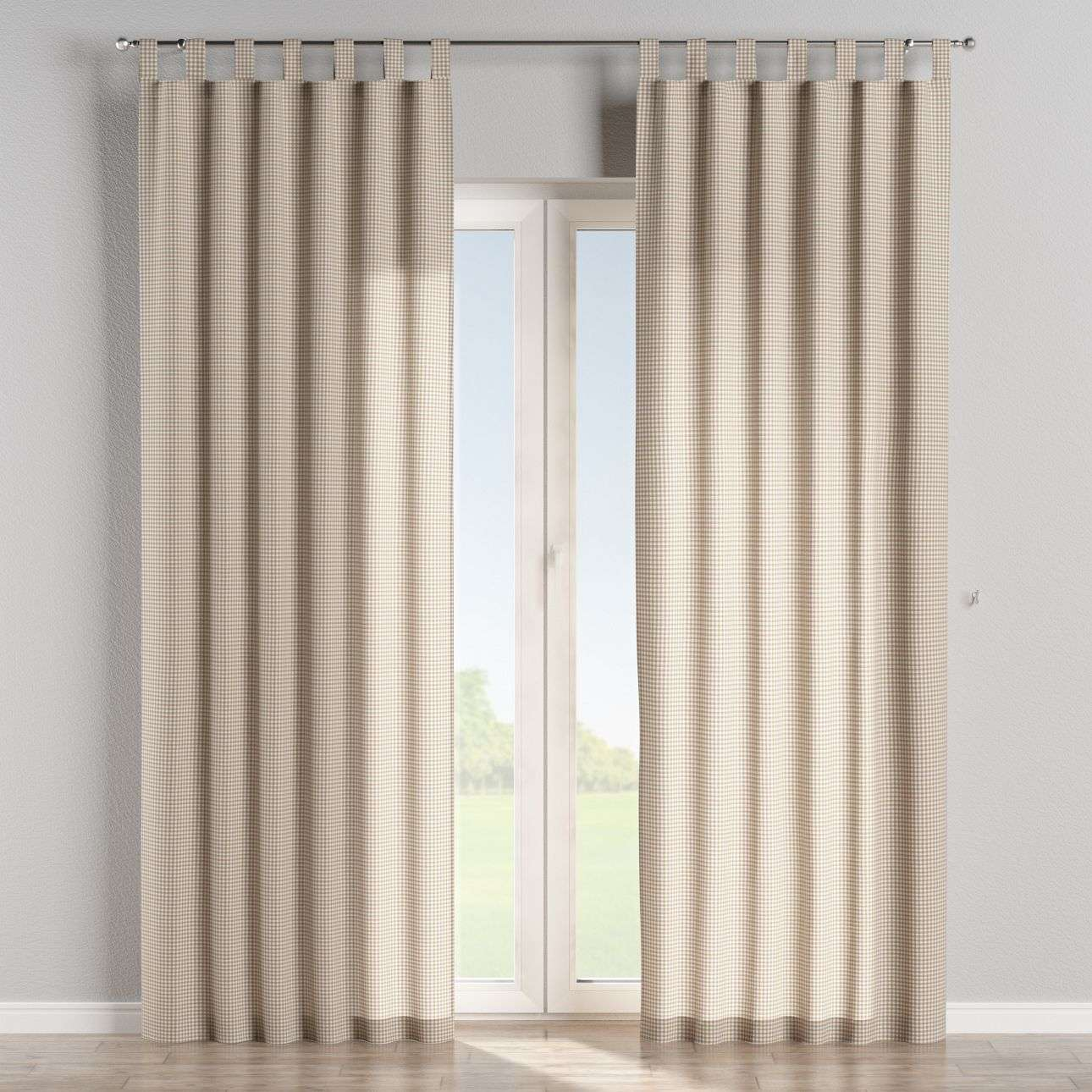 Tab top curtains in collection Quadro, fabric: 136-05