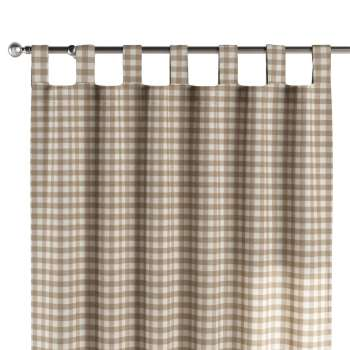 Tab top curtains 130 × 260 cm (51 × 102 inch) in collection Quadro, fabric: 136-06