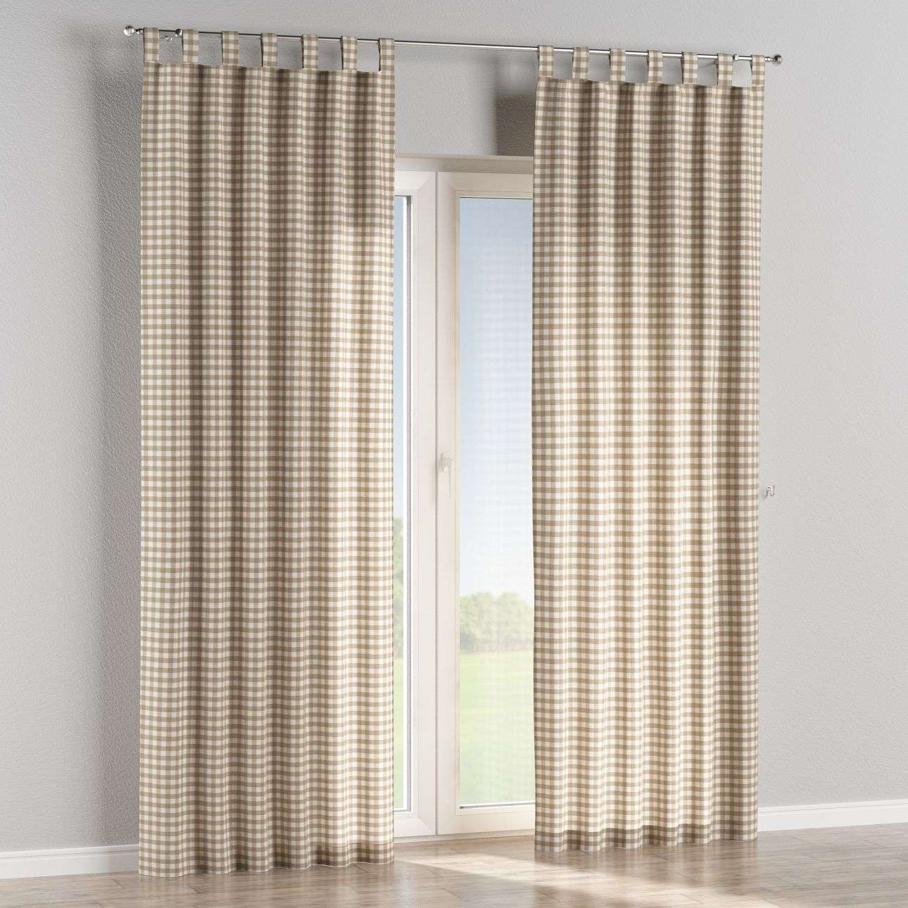 Tab top curtains in collection Quadro, fabric: 136-06