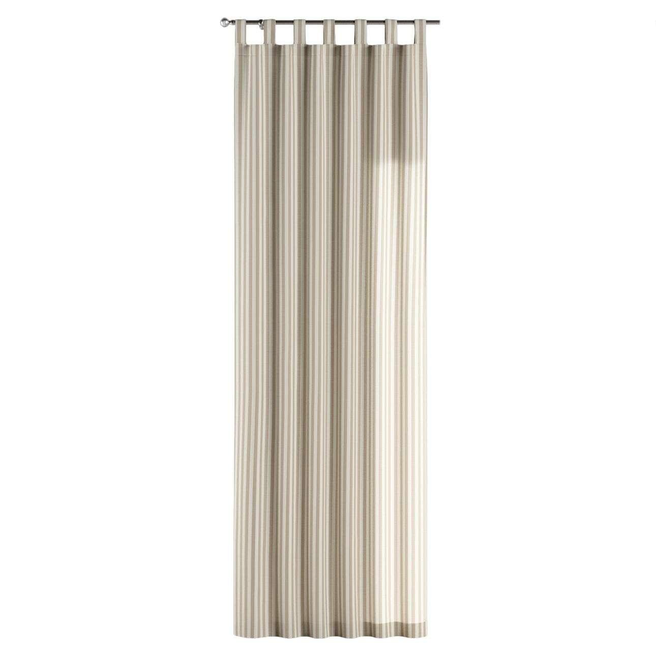 Gardin med stropper 1 stk. 130 × 260 cm fra kolleksjonen Quadro, Stoffets bredde: 136-07