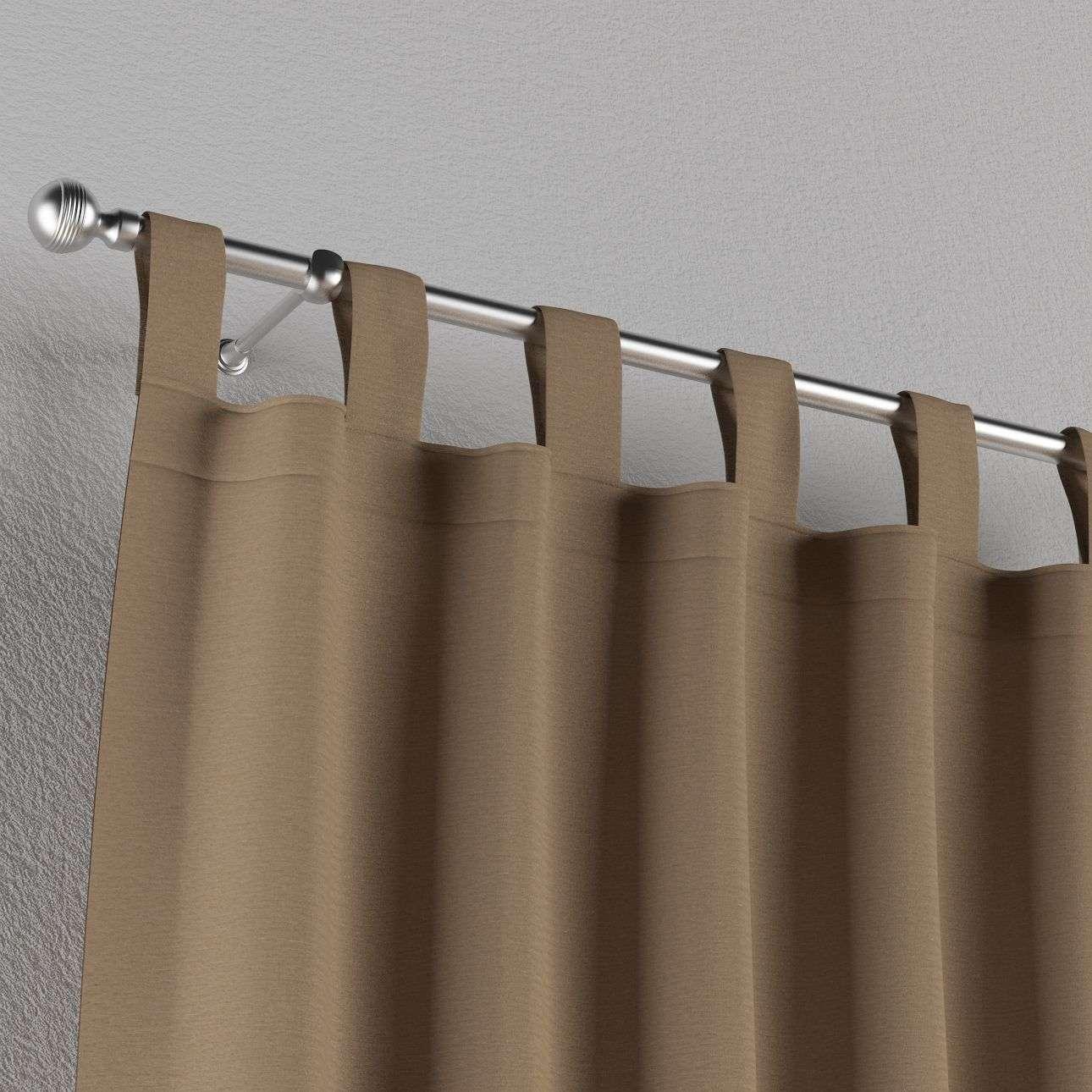 Gardin med stropper 1 stk. 130 x 260 cm fra kolleksjonen Quadro, Stoffets bredde: 136-09