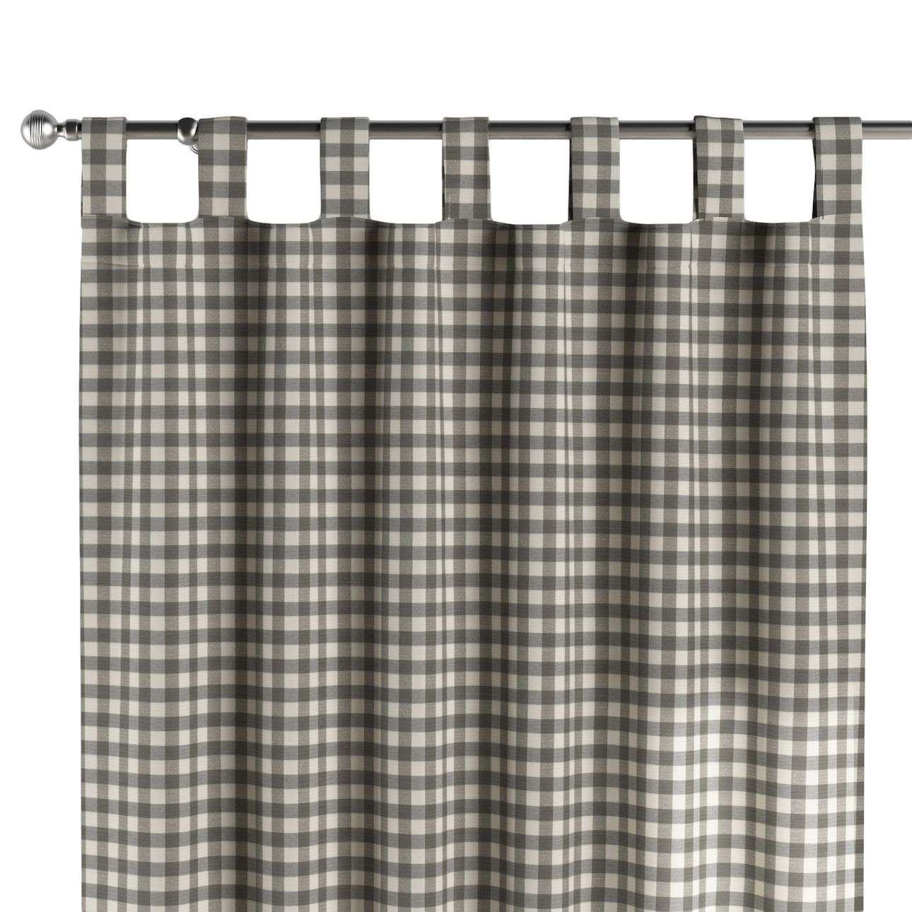 Tab top curtains 130 × 260 cm (51 × 102 inch) in collection Quadro, fabric: 136-11