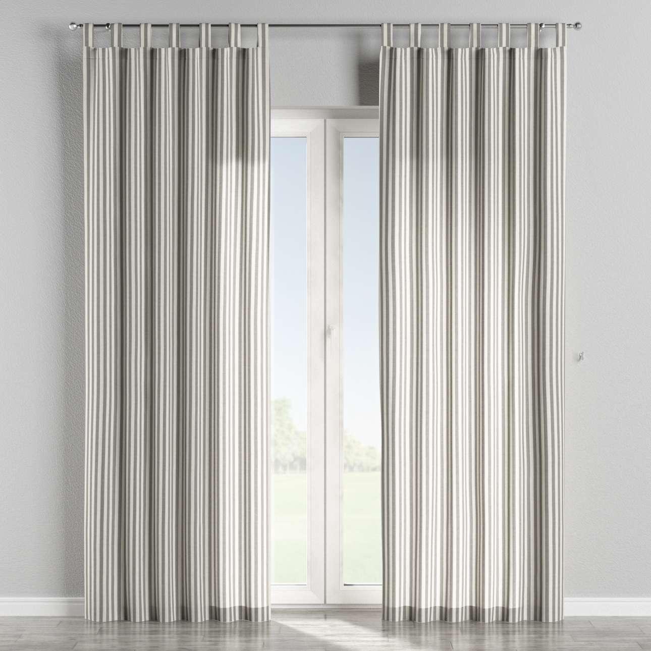 Gardin med stropper 1 stk. 130 × 260 cm fra kolleksjonen Quadro, Stoffets bredde: 136-12