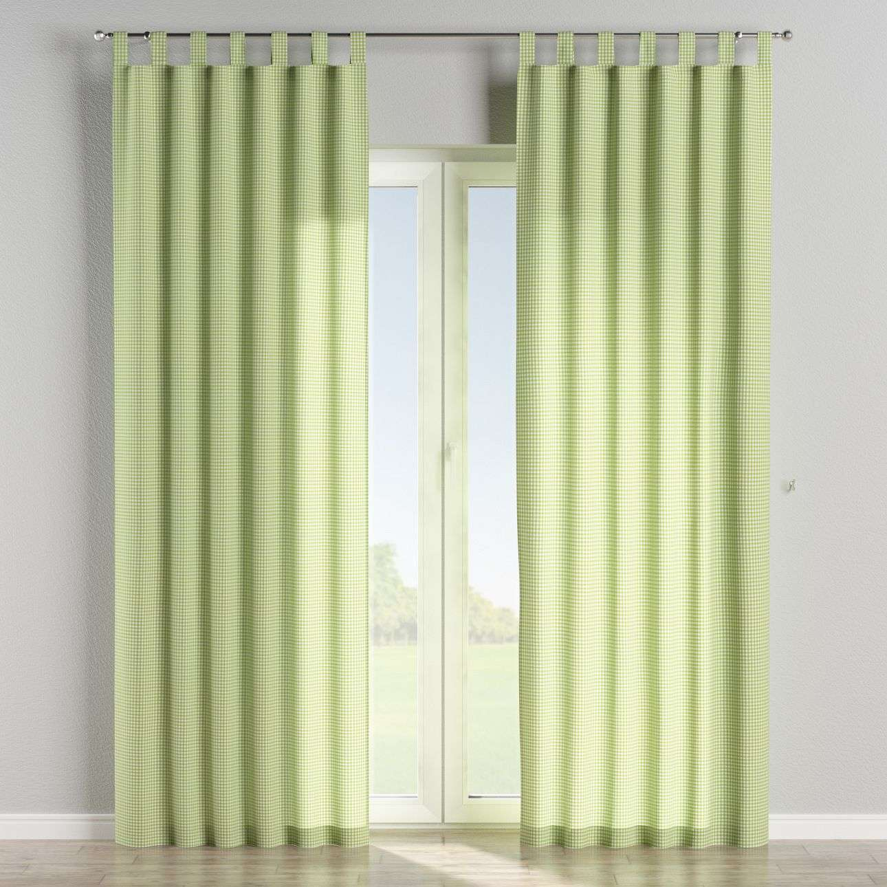 Tab top curtains 130 x 260 cm (51 x 102 inch) in collection Quadro, fabric: 136-33