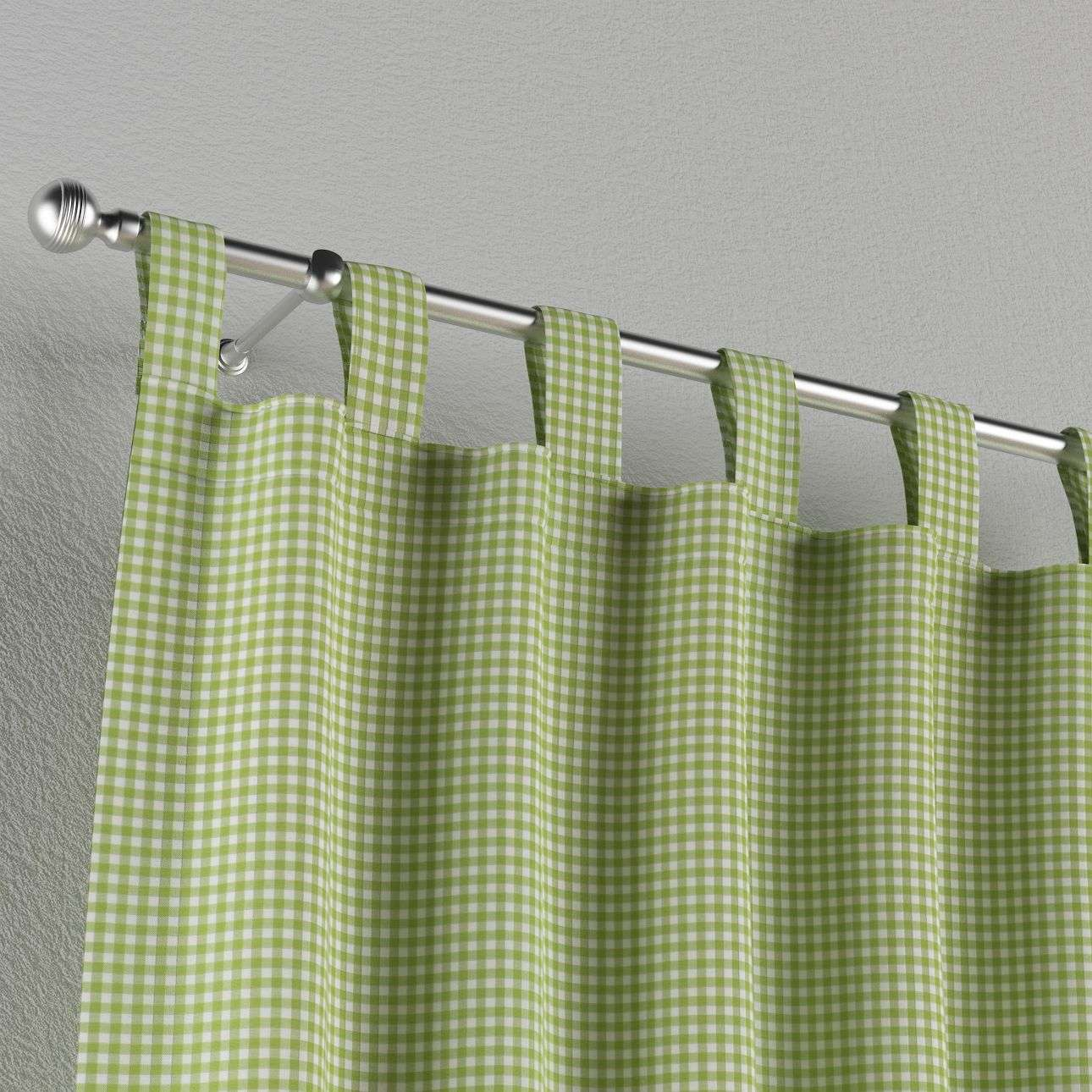 Tab top curtains in collection Quadro, fabric: 136-33