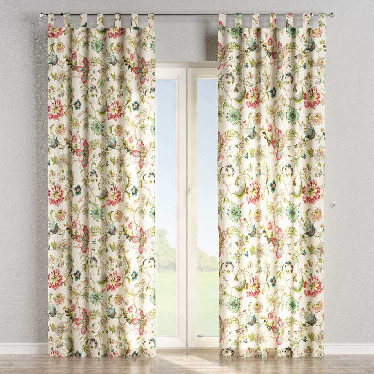 Tab top curtains 130 x 260 cm (51 x 102 inch) in collection Londres, fabric: 122-00