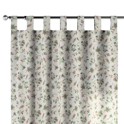 Tab top curtain 122-02 multicolour small flowers on light background Collection Londres
