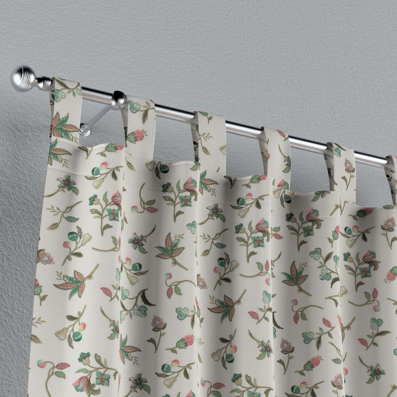 Tab top curtains in collection Londres, fabric: 122-02